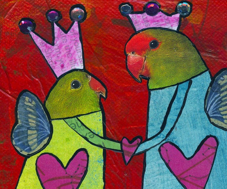 They Loved HAPPILY EVER AFTER - WoodBird Print