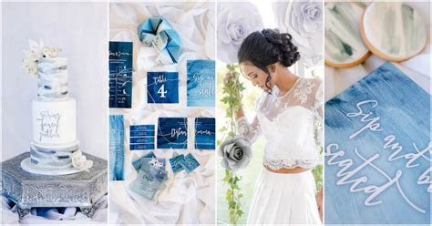 Romantic Watercolor Wedding Ideas in Ocean Blues and Silver