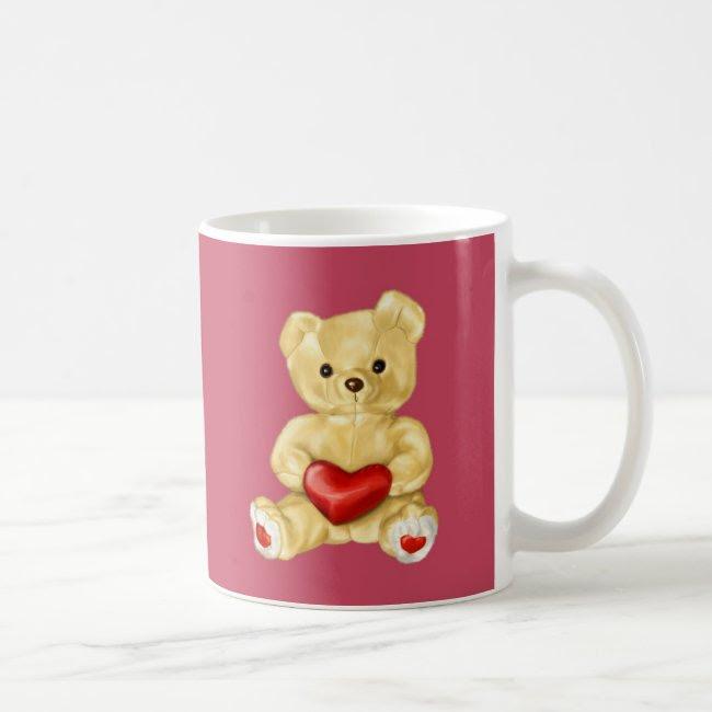 Pink Hypnotizing Cute Teddy Bear Coffee Mug