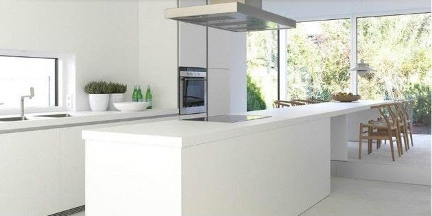 Diseños de Cocinas Blancas 5 Atractivos Diseños de Cocinas Blancas