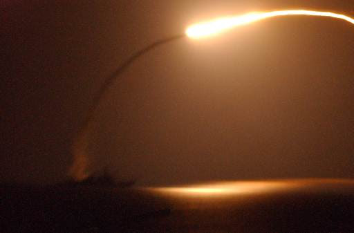 USS Winston S. Churchill (DDG 81) launches a tomahawk missile