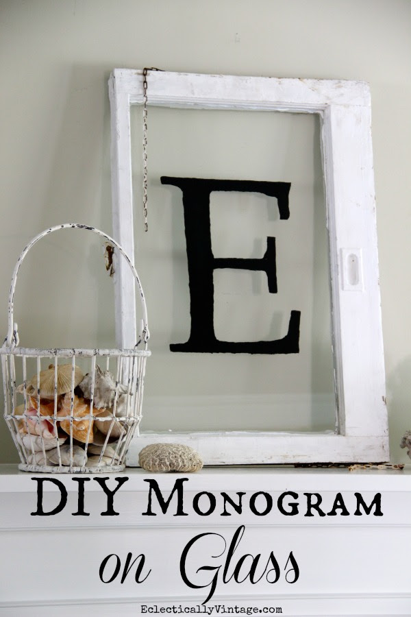 Eclectically Vintage Monogrammed Window eclecticallyvintage.com