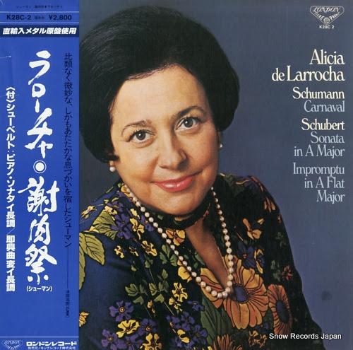 DE LARROCHA, ALICIA schumann; carnaval, op.9