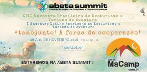 MaCamp Levará o Campismo para a ABETA SUMMIT 2016