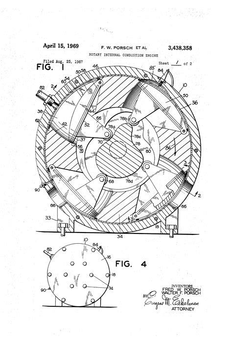 Patent US3438358 - Rotary internal combustion engine