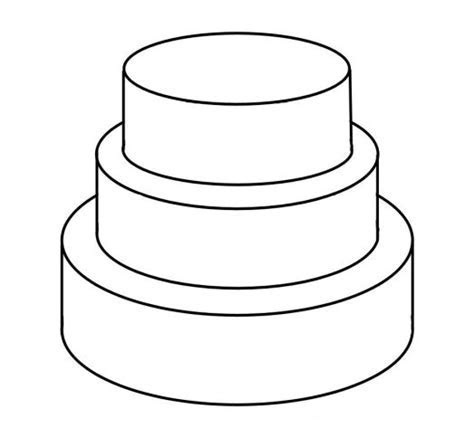 Wedding Cake clipart outline   Pencil and in color wedding