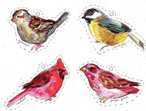 Winter Bird Printables