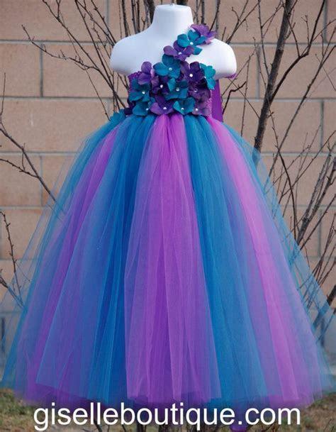 Flower girl dress. Purple and Teal TuTu Dress. baby tutu