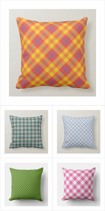 Plaid and Check Pillows