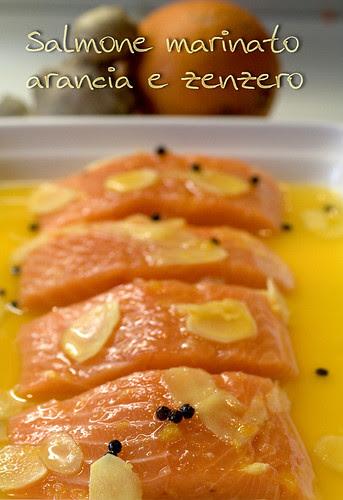 Salmone marinato arancia e zenzero