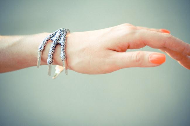 Pamela Love Talon Cuff, Fashion, Hot Pink Neon nail polish