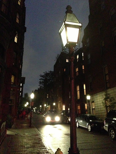 Beacon Hill at night, Boston