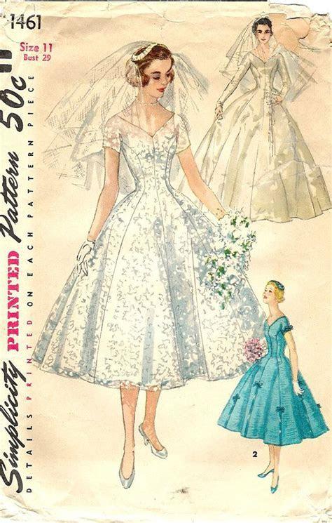 1950's Tea Length Wedding Dress SIMPLICITY Sewing Pattern