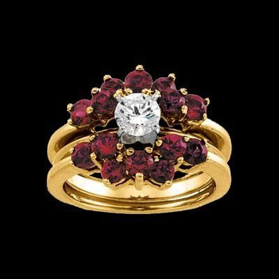 14k Gold Ruby Solitaire Enhancer