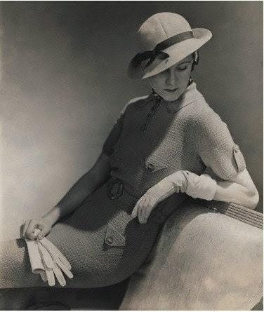 1930 pink rabbit print dress peter pan collar