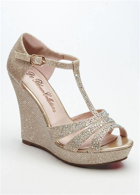 davids bridal wedding bridesmaid shoes glitter  strap