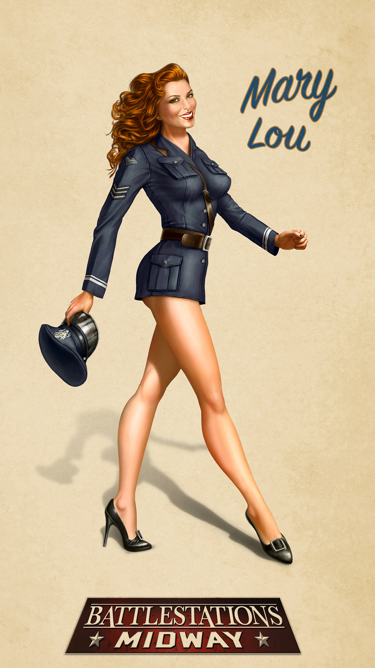 Pin Up Mary Lou Wallpaper For Iphone 11 Pro Max X 8 7 6