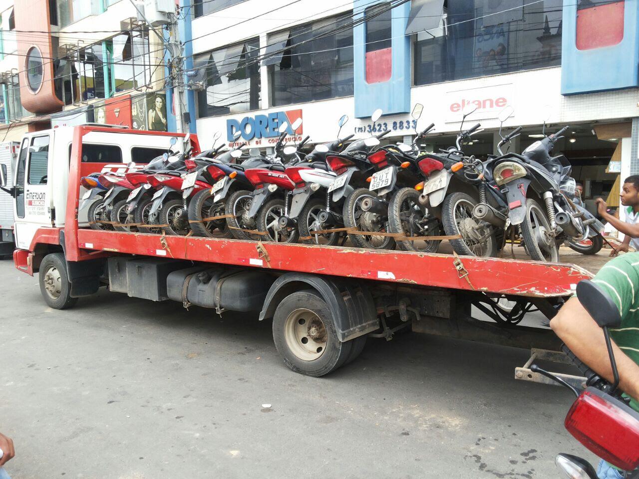Mais de 300 motos foram apreendidas em Feira de Santana este ano