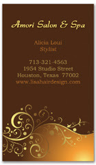 BCS-1041 - salon business card