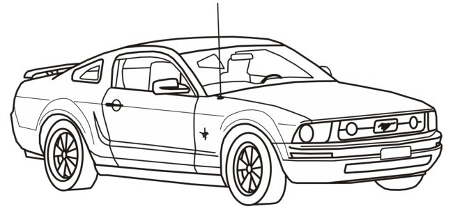 coloring pages cars mustang