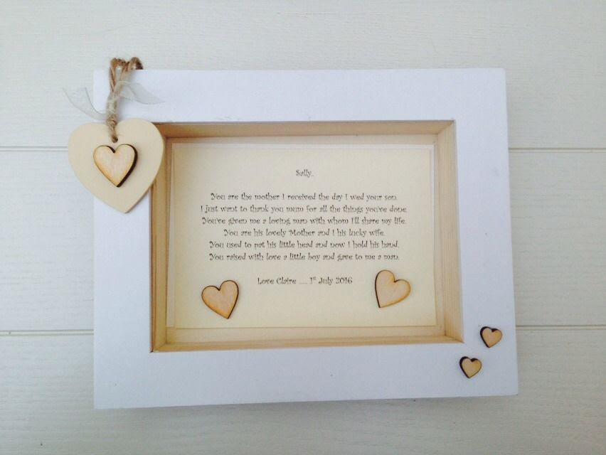 Shabby Personalised Chic Box Frame Present Mother Of The Groom From