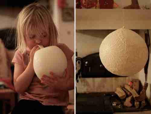 Δαντελωτή λάμπα από μπαλόνι