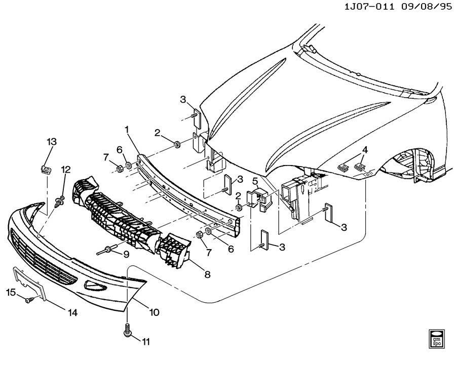 1998 Chevrolet Cavalier BUMPER/FRONT