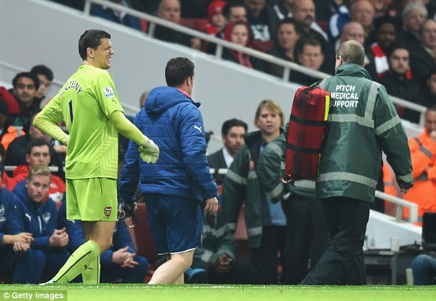 Arsenal goalkeeper Wojciech Szczesny has also been ruled out of his side's next match