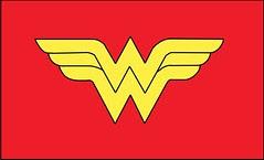 Plantilla de emblema de la Mujer Maravilla.