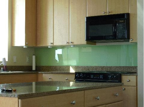 Back painted glass backsplash - IKEA Hackers
