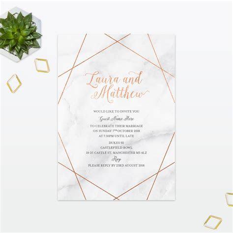 Geometric Wedding Invitation   Love Invited