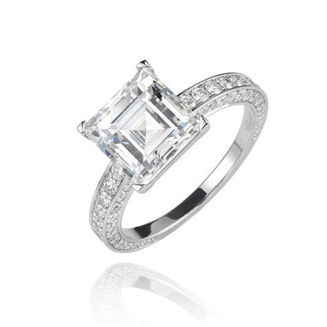 3.19ct step cut diamond engagement ring   Chopard   The