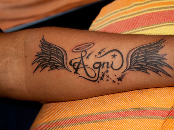 Angel Wings Tattoo On Hand