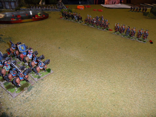 Driving the British cavalry from the field