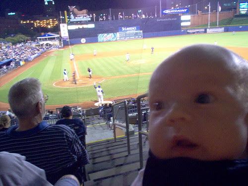 tobin's first baseball game
