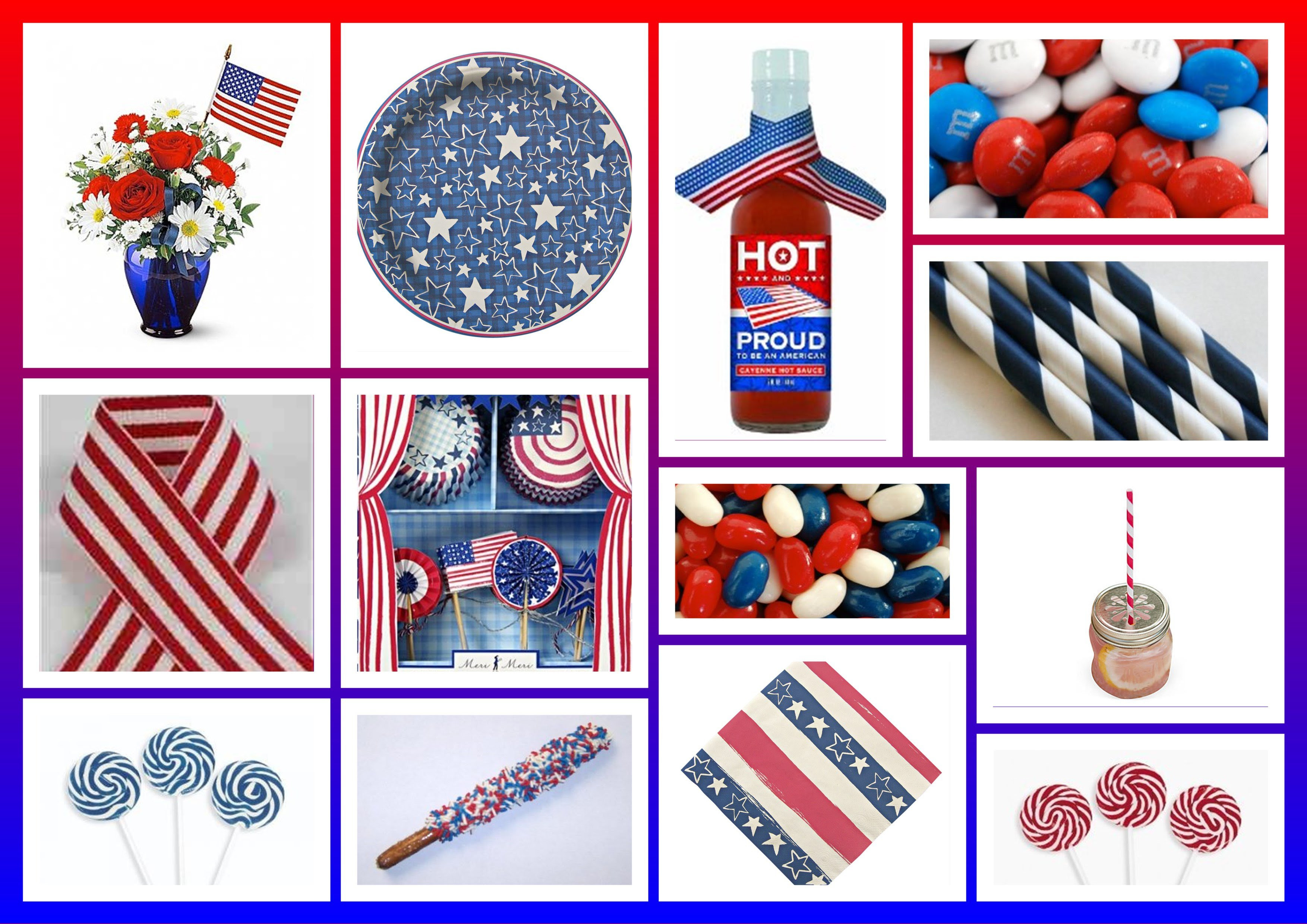 Memorial Day Party Decor Ideas Patrioitic Party Red White