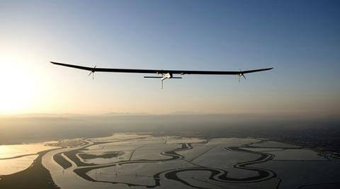 The solar plane, dubbed Solar Impulse 2, will circumnavigate the world in March 2015. (Reuters)