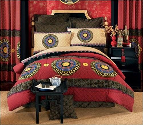 Unique Bedding Comforter Asian Design Good Fortune Symbol Bed In Bag Set Full Queen Or
