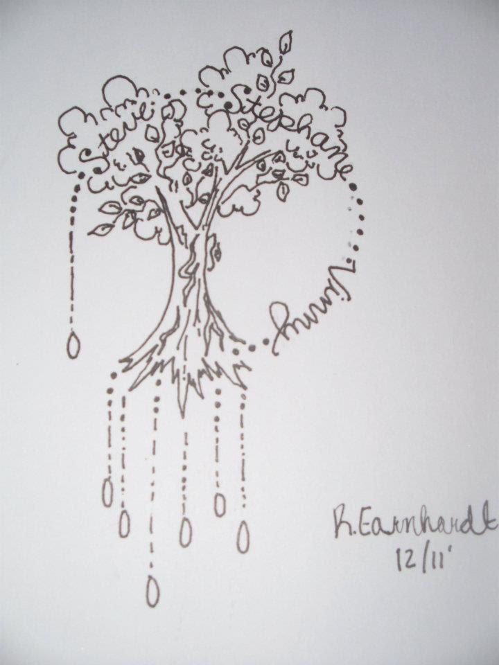 Noce Outline Tree Tattoo Design