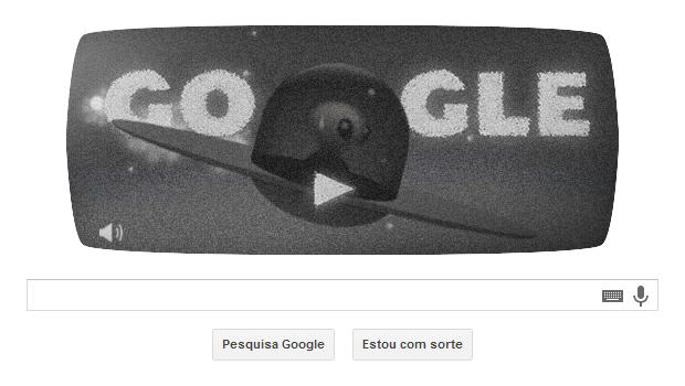 """Doodle animado relembra o """"Caso Roswell"""" (Foto: Reprodução/Google)"""