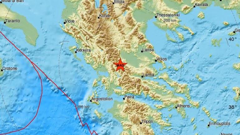 Σεισμός 5,1R στα Τρίκαλα