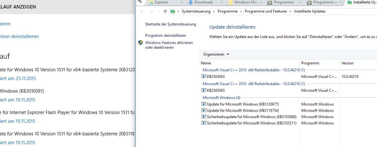 Windows Media Feature Pack not working correctly