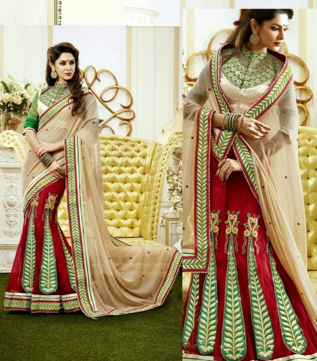 Bridal-Wedding-Rich-Heavy-Embroidered-Sarees-Designs-Lehanga-Style-Fancy-Sari-New-Fashion-1