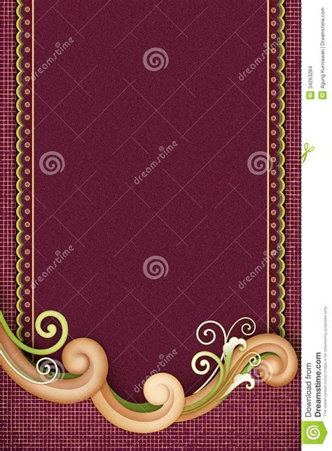 Elegant Swirl With Dark Background Stock Illustration