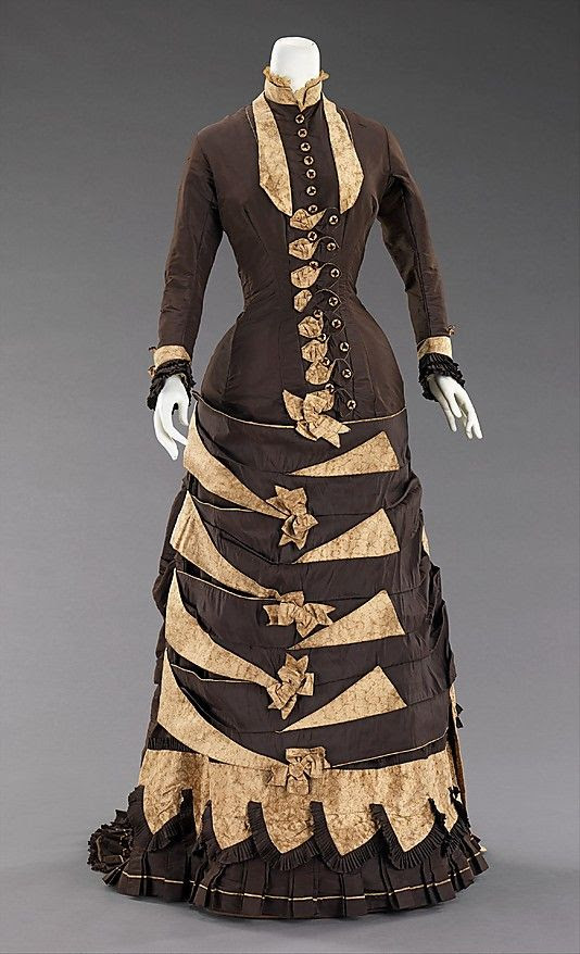 Victorian Wedding Dress  Date: 1879 Culture: American Brooklyn Museum Costume Collection at The Metropolitan Museum of Art, Gift of the Brooklyn Museum, 2009; Gift of Mrs. Thomas W. Hotchkiss, 1939