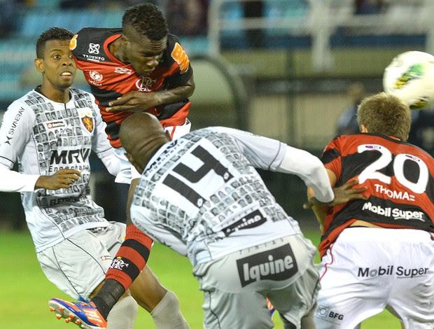 Negueba, Flamengo x Sport (Foto: Celso Pupo / Agência Estado)