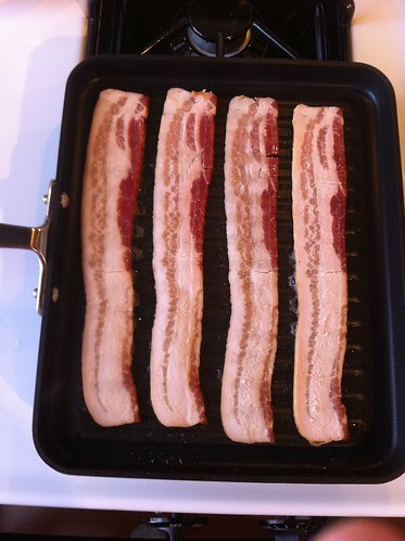 Bacon: To be cooked