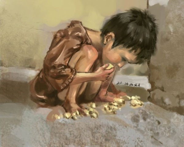 Hungry Child Painting