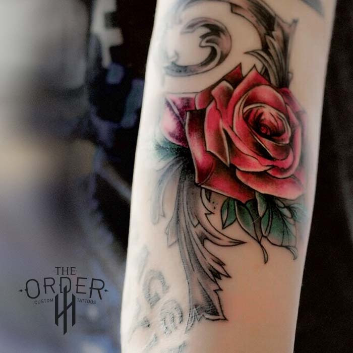 Rose Vine Tattoo The Order Custom Tattoos