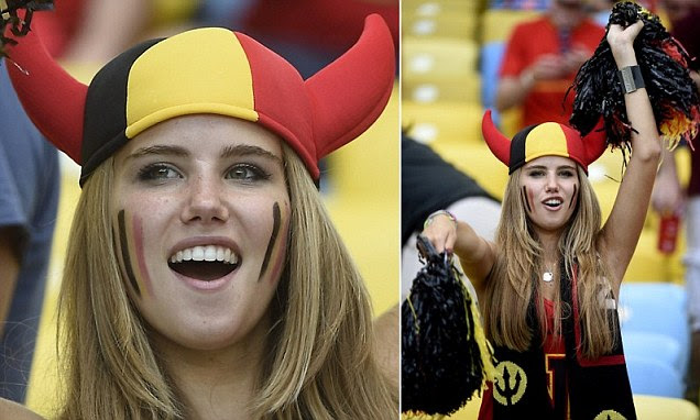 Belgian 17-year-old Axelle Despiegelae was discovered cheering on her national team at the World Cup in Brazil two weeks ago